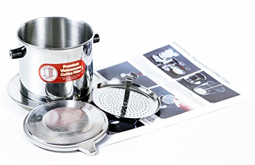 Vietnamese Coffee Filter Phin 11 Ounce (Large), Gravity Insert, One Cup by Thang Long