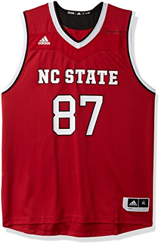 NCAA North Carolina State Wolfpack Adult Men Replica Basketball Jersey X-Large,Red (Wolfpack Red Adidas Replica Football)