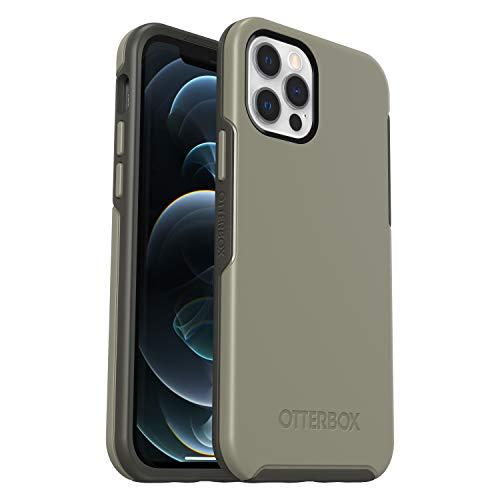 OtterBox Symmetry, funda anticaídas, fina y elegante para Apple iPhone 12/12 Pro Gris