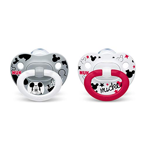 NUK Disney Mickey Mouse Orthodontic Pacifiers, 0-6 Months, 2-Pack ()