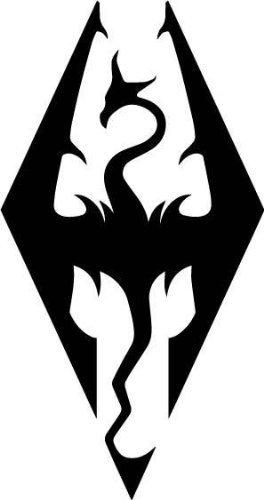 Skyrim Imperial Symbol Logo Die Cut Vinyl Decal Sticker Black (Best Laptop For Skyrim)