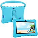 Kids Tablet, HENGKE 7 inch Tablets for Kids Google Android 5.1 with Handle Silicone Case,IPS Display Screen,1GB+8GB,Wi-Fi,Bluetooth (Blue)