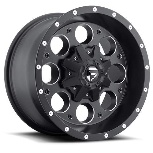 Fuel Revolver 15x10 Black Wheel / Rim 6x5.5 with a -43mm Offset and a 108.00 Hub Bore. Partnumber D52515008337 (Fuel Revolver)