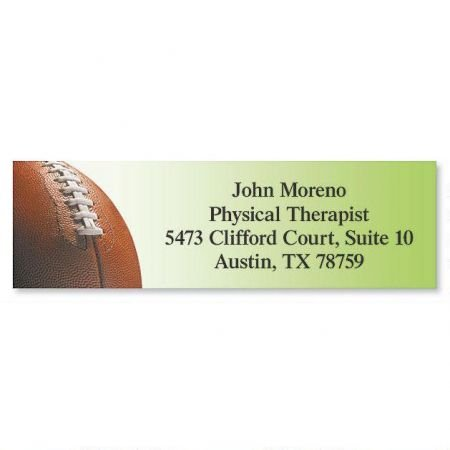 Football Small Return Address Labels - Set of 240 2