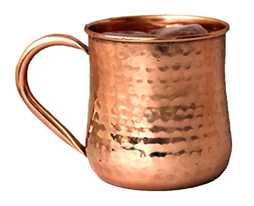 STREET CRAFT Copper Moscow Mule Mug Handmade Of 100% Pure Copper, Hammered Moscow Mule Mugs / Cups 16 Oz.Copper Handle Mug Set (Best Homemade Halloween Costumes)