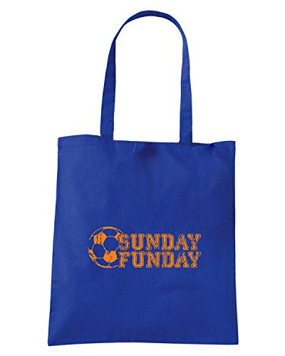 T-Shirtshock - Bolsa para la compra WC0580 SUNDAY FUNDAY T-SHIRT Azul Real