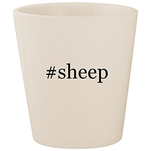 #sheep - White Hashtag Ceramic 1.5oz Shot Glass for $<!--$15.95-->