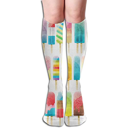 Socks Watercolor Popsicles Stylish Womens Stocking Decoration Sock Clearance for Girls ()