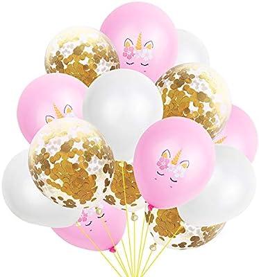 Doitsa - Lote de 15 Globos de Unicornio para decoración de ...