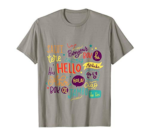 Hello word in different languages Funny Summer Travel shirt by Adrenaline Hello T-shirt