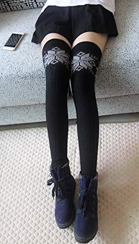 schwarz Unique Guêtres Femme Schneeflocke Taille Acvip zqHtXw0wB