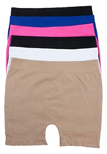 - Barbra's 6 Pack Women's Stretchy Seamless Legging Shorts Boy Shorts