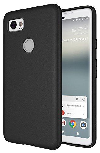 Pixel 2 XL Case, Diztronic Full Matte Slim-Fit Flexible TPU Case for Google Pixel 2 XL (2017) (Black)