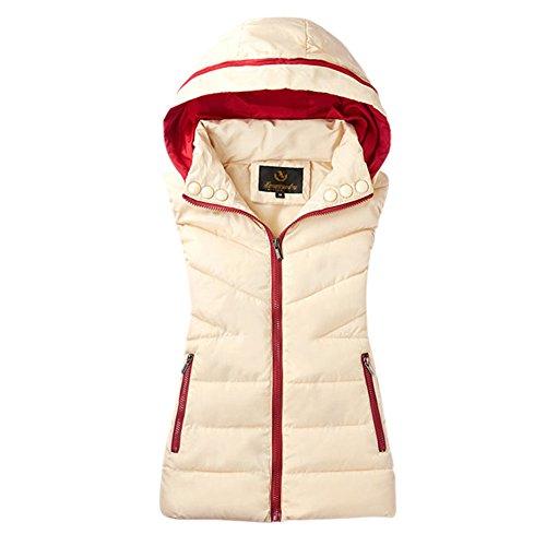 学校教育演じる距離Cozy Maker(C&M)べスト レディース 中綿ベスト 袖なし 立ち襟 軽量 ポケット付き 無地 防寒 暖かい カジュアル シンプル ノースリーブ 通勤 通学 大きいサイズ アウター トップス 厚手 ロング フード付き