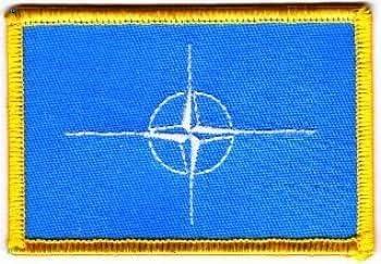 Flaggen Aufn/äher Patch NATO Fahne Flagge NEU