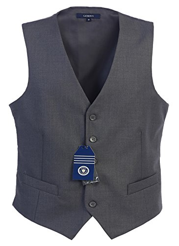 Gioberti Mens 5 Button Formal Suit Vest, Charcoal, 2X-Large