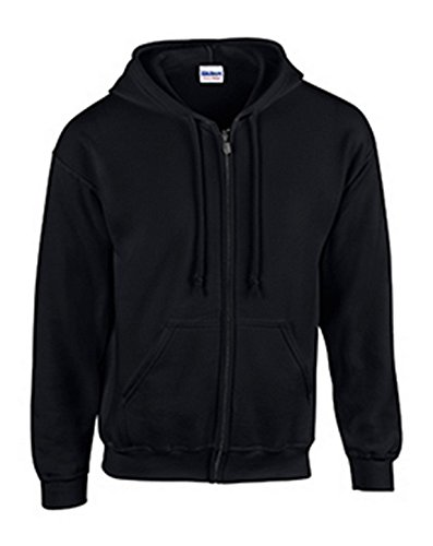 Gildan mens Heavy Blend 8 oz. 50/50 Full-Zip Hood(G186)-BLACK-4XL