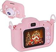 Salandens Mini Cámara para Niños 1080P HD cámara de Video Digital para niños con Tarjeta de Memoria de 32GB, P