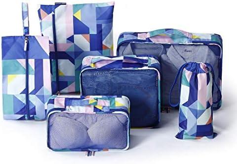 トラベルポーチ 6セットパッキングキューブ、旅行荷物梱包オーガナイザー