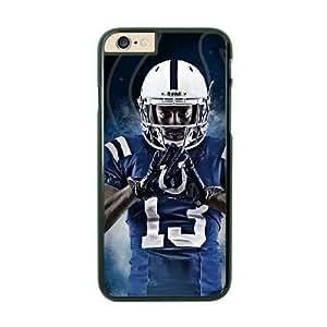 NFL iPhone 6 Black Cell Phone Case Detroit Lions QNXTWKHE2162 NFL 3D Design Phone Case Cover