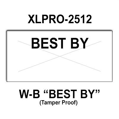 201,600 XLPro compatible 2512 ''Best By'' White General Purpose Labels to fit the XLPRO-26D, XLPRO-26E, XLPRO-26EA Price Guns. Full Case and includes 8 ink rollers. by Infinity Labels