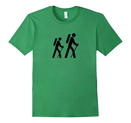 - Mens Hiking Sign T-shirt - Funny Camping, Outdoors, For Hikers 3XL Grass