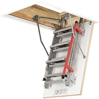 Escalera plegable – Altura máxima: Metal bajo techo 3.05 M.: Amazon.es: Bricolaje y herramientas