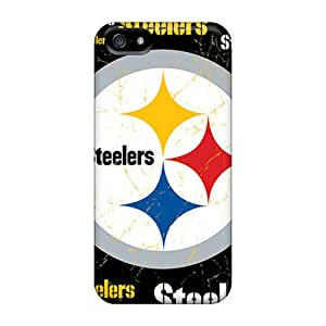 Premium EVj2570MWmn Case With Scratch-resistant/ Pittsburgh Steelers Case Cover For Iphone 5/5s