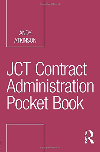 Best! JCT Contract Administration Pocket Book (Routledge Pocket Books) [P.P.T]