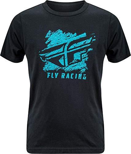 (Fly Racing Crayon Youth T-Shirt (Black, Large))