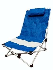 VMI silla de playa con almohada, azul