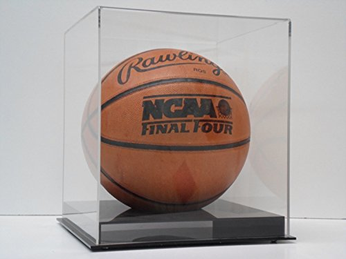 Basketball Display Case Full Size Ball with Black Cut Out Base NCAA NBA by Plastics Unlimited