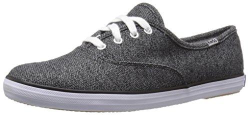 Keds Women's CH Sweatshirt Jersey Fashion Sneaker, Black, 8.5 M US