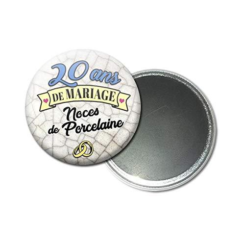 Magnet Aimant 56 Centimètres 20 Ans De Mariage Noces De