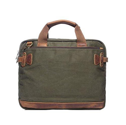 Sucastle Men's handbag canvas bag shoulder Messenger bag Sucastle Colour:ArmyGreen size:36x31x6cm