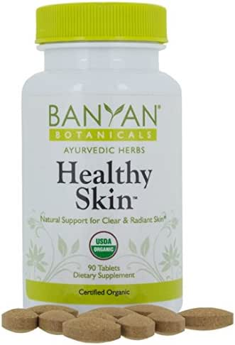 Banyan Botanicals Healthy Skin - USDA Certified Organic - 90 Tablets - Daily Supplement for Radiant, Flawless Skin*