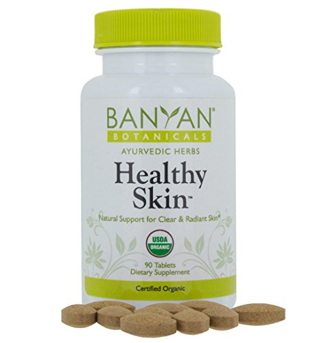 Banyan Botanicals Healthy Skin - USDA Certfiied Organic - 90 tablets - Daily Supplement for Radiant, Flawless Skin*