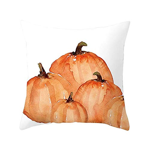 HGWXX7 Halloween Pillow Cover for Home Car Bed Sofa Decorative Letter Cushion Case Pillow Protectors(A) ()