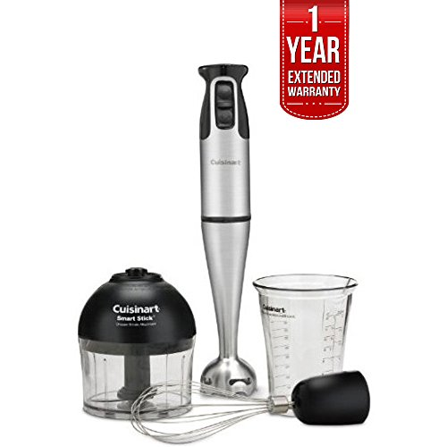 Cuisinart Smart Stick 2-Speed 200-watt Immersion Hand Blender (CSB-79) with 1 Year Extended Warranty