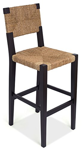 BirdRock Home Rush Weave Barstool with Back | 30 Inch Bar Height | Traditionally Woven Kitchen Dining Room Bar Stool Chair | Wooden Furniture | Fully …