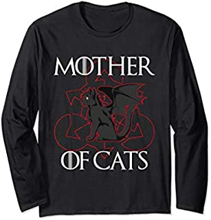 Mother of Cats Cat Lovers  - Hot Summer 2019 Vintage Long Sleeve T-shirt | Size S - 5XL