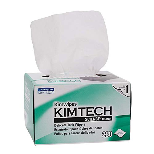 Kimberly-Clark Professional QLZSTWUH Kimtech Science KimWipes Delicate Task Wipers, 4.4 x 8.4 in. 1-ply, 9 Box of 280