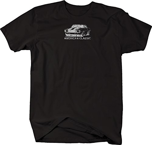 ssed - Classic Chevy Camaro Z28 Hotrod Muscle Car Tshirt - Large (Camaro White Muscle Car T-shirt)