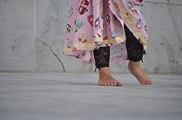 Baby Emporio-Baby & Toddler Girl Lace Leggings-Satin Bows-Gift Bag-12-18M