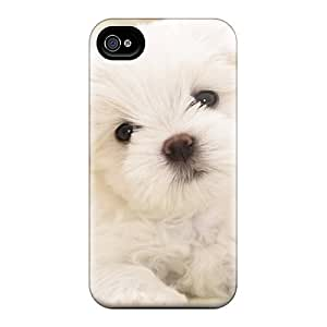 BrownCases Case Cover Protector Specially Made For Iphone 4/4s Maltese Puppy