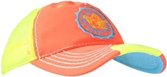 True Religion Men's Neon Baseball Cap, Orange, One Size