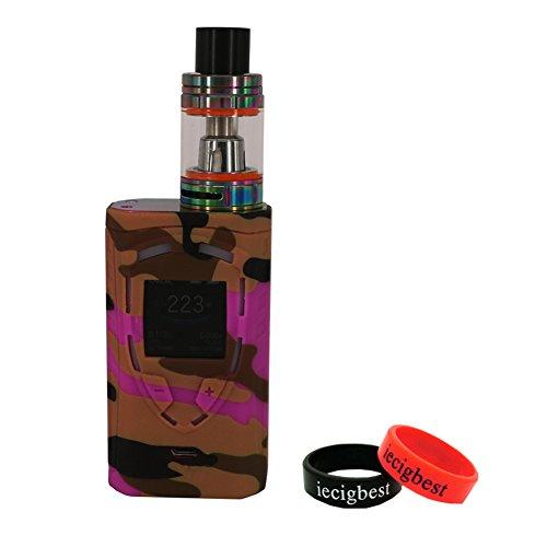 Smok ProColor 225W Silicone Protective Wrap Skin Silicone Case Sleeve Cover For Smok ProColor 225W Mod Kit (Camouflage Purple)