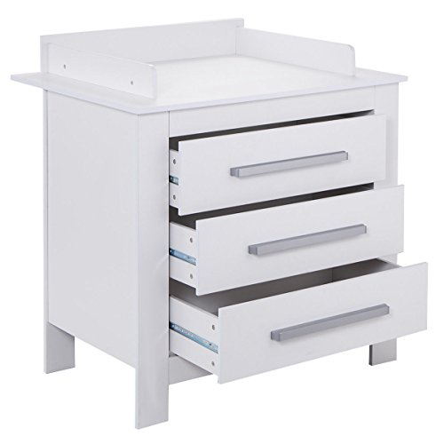 Costzon White Changing Table Dresser Baby Room Nursery Furniture Diaper Station 3 Drawer by Costzon (Image #2)