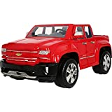 Rollplay 12 Volt Chevy Silverado Truck Ride On Toy, Battery-Powered Kid's Ride On Car - Red