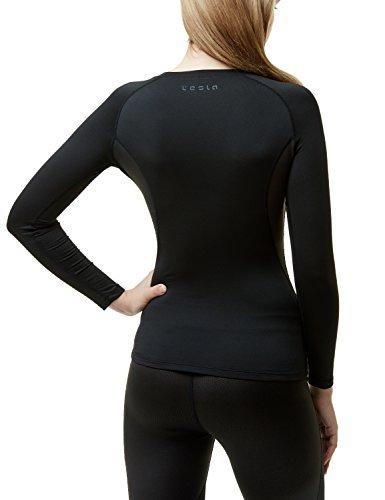 TSLA TM-XUD34-KLB_Medium Women's Wintergear Compression Baselayer Long Shirt XUD34